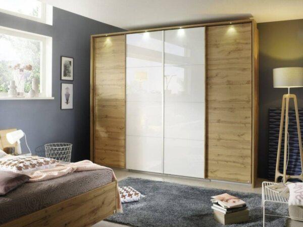 dulap Syncrono dormitor cu usi sticla