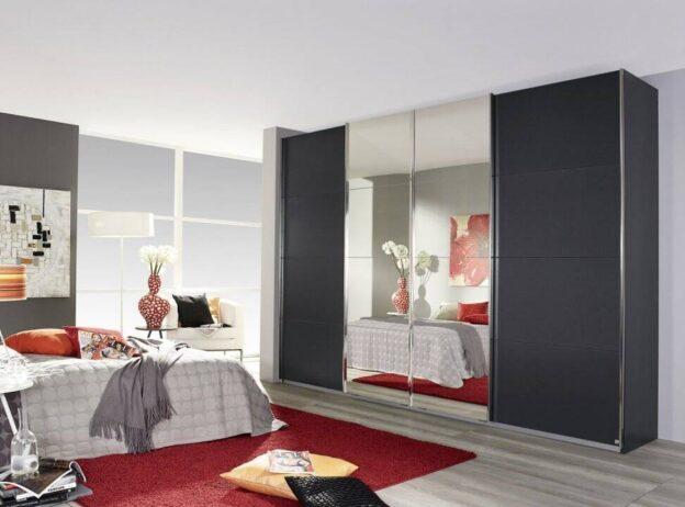 Dulap dressing Syncrono dormitor cu 4 usi sticla, de la 3.290 lei